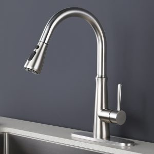 iVIGA Kitchen Sink Faucets with Pull Down Sprayer, 360-rotation Spout 3 Spray Modes Commercial